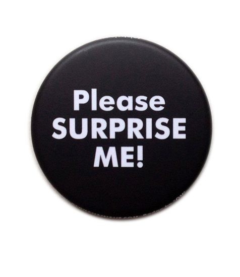 Badge Olivia Hainaut pour Please Surprise Me