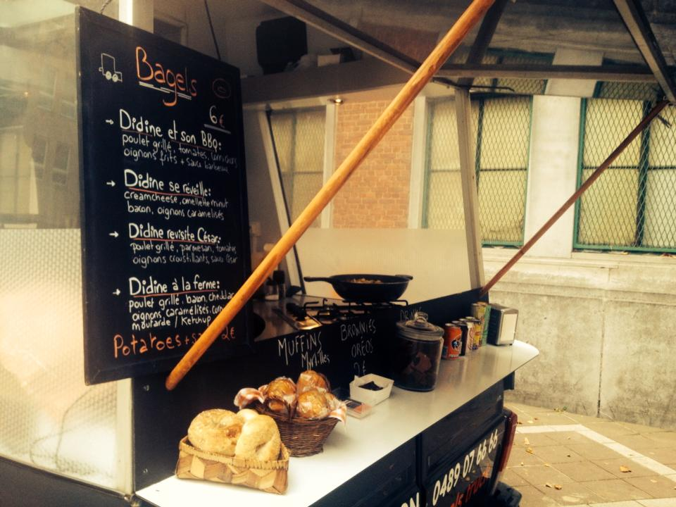 Didine Cooking Bagel Truck Bruxelles