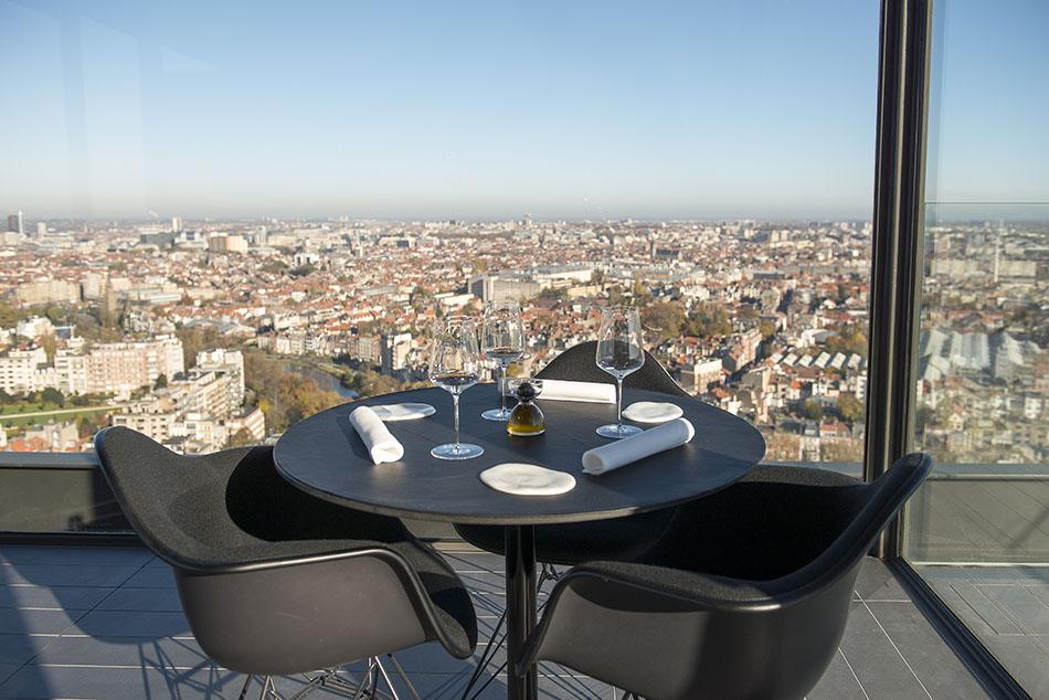 La Villa In The Sky, restaurant insolite et gastronomique à Bruxelles